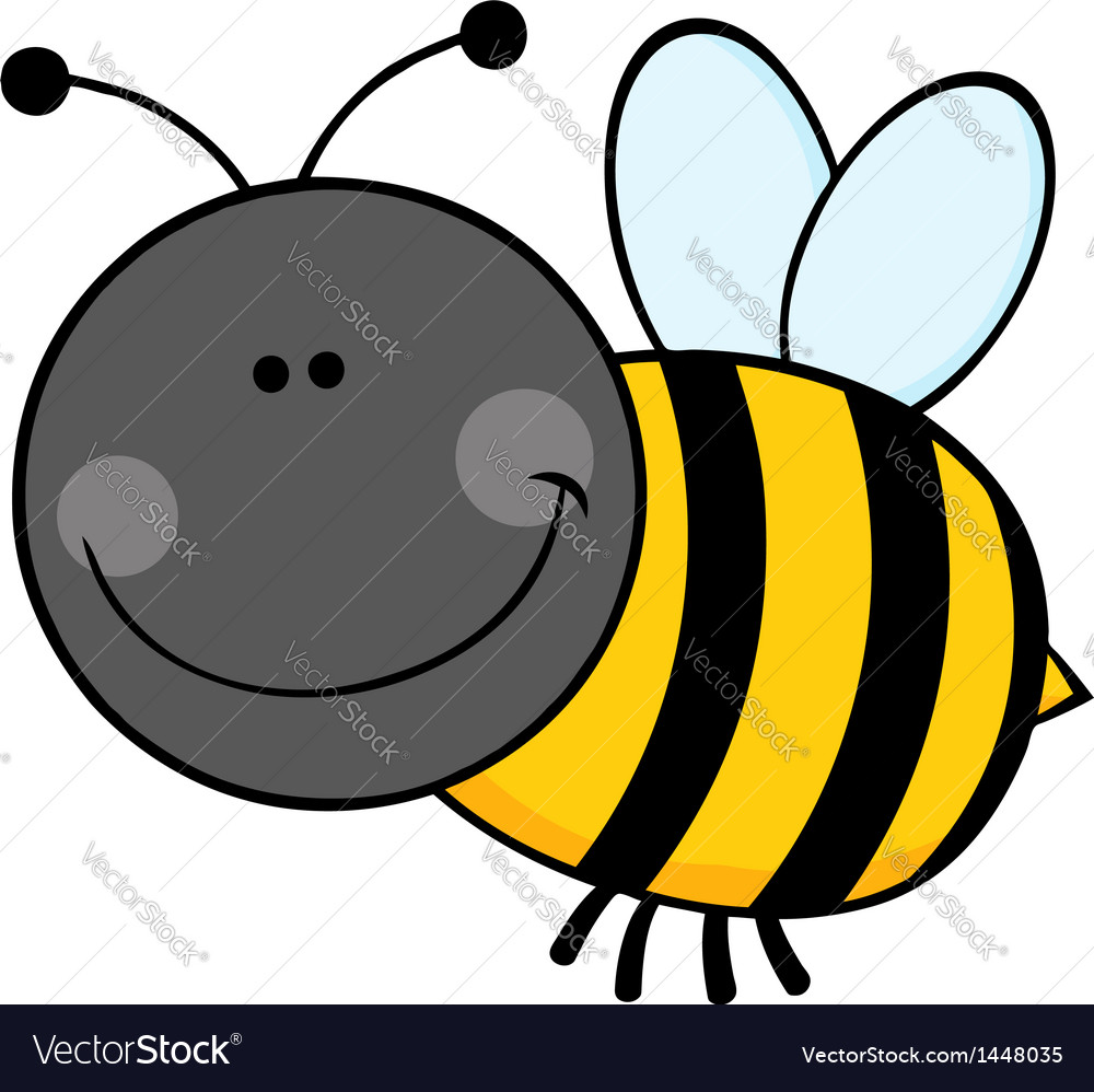 Bumble Bee Cartoon Character Flying Royalty Free Vector