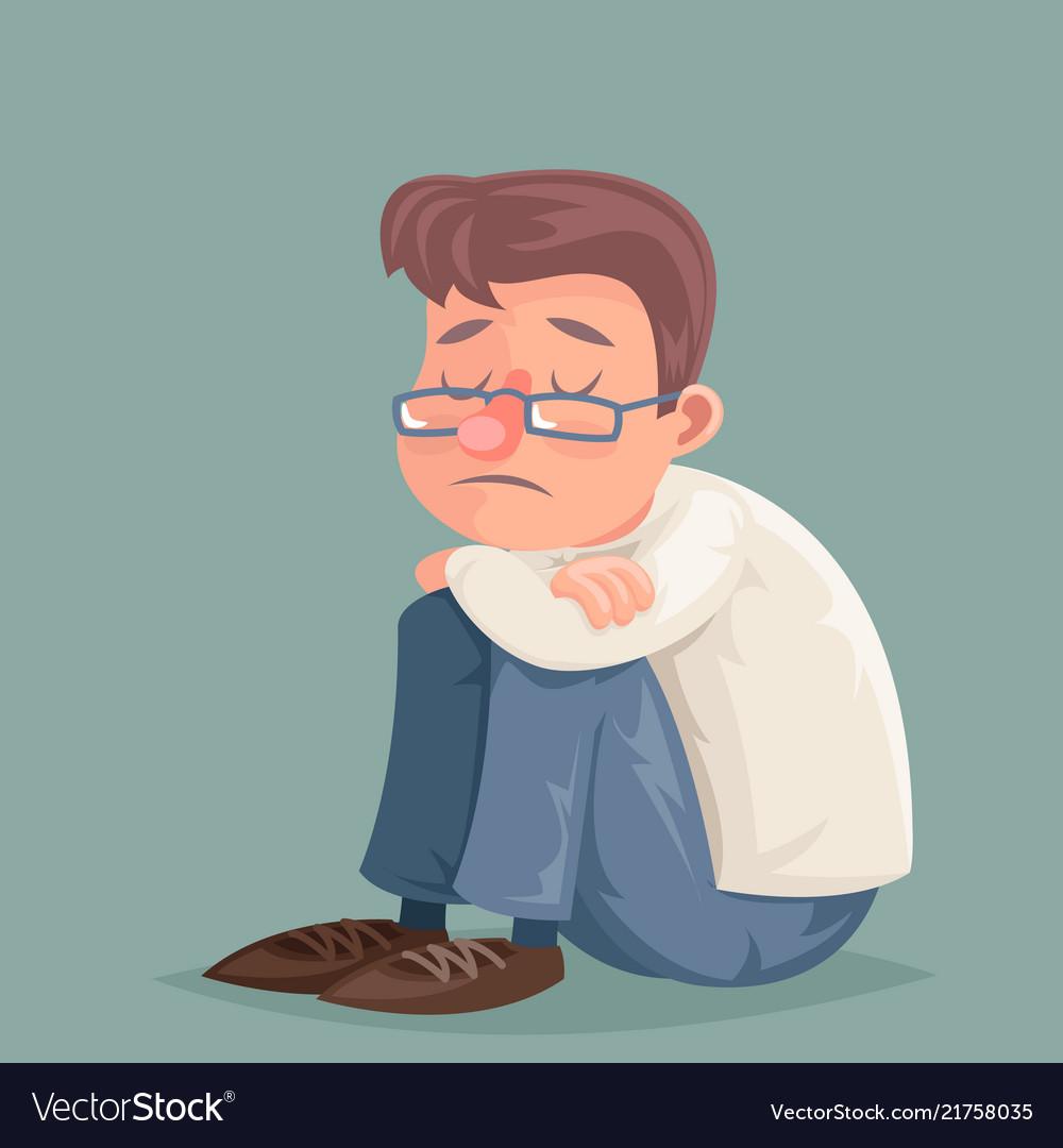 Businessman Suffer Emotion Depression Sadness Vector Image