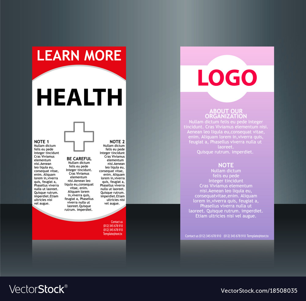 Collection of 2 abstract medical business cards vector image cheaphphosting Gallery