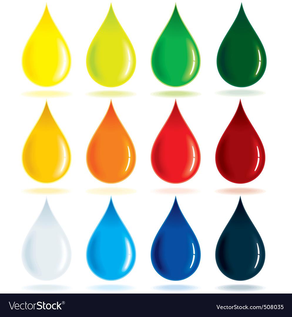 blood drop vector. Colorful Drops Vector