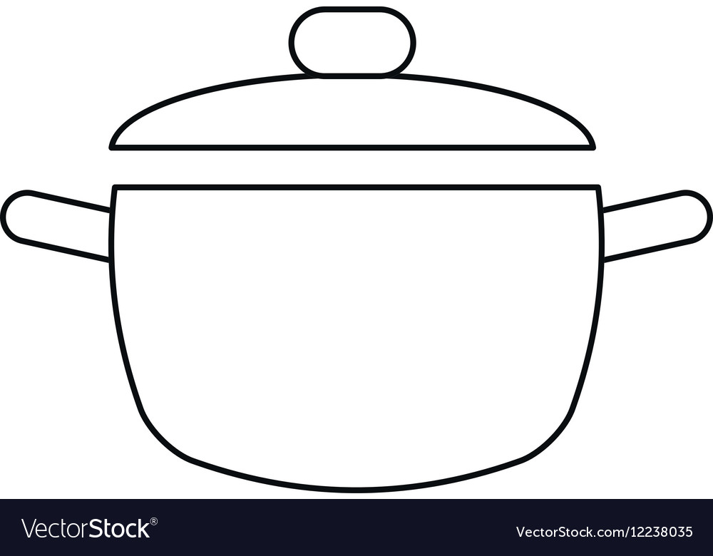 Cooking pot kitchen food outline