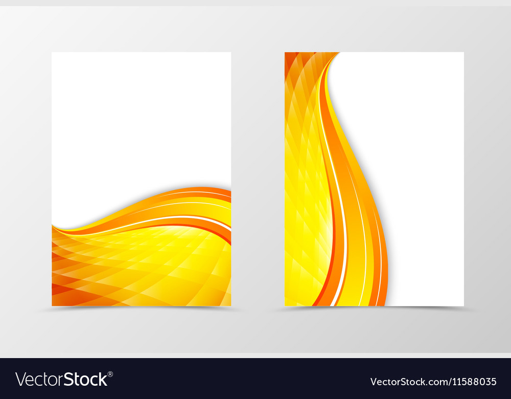 Front and back dynamic wave flyer template design