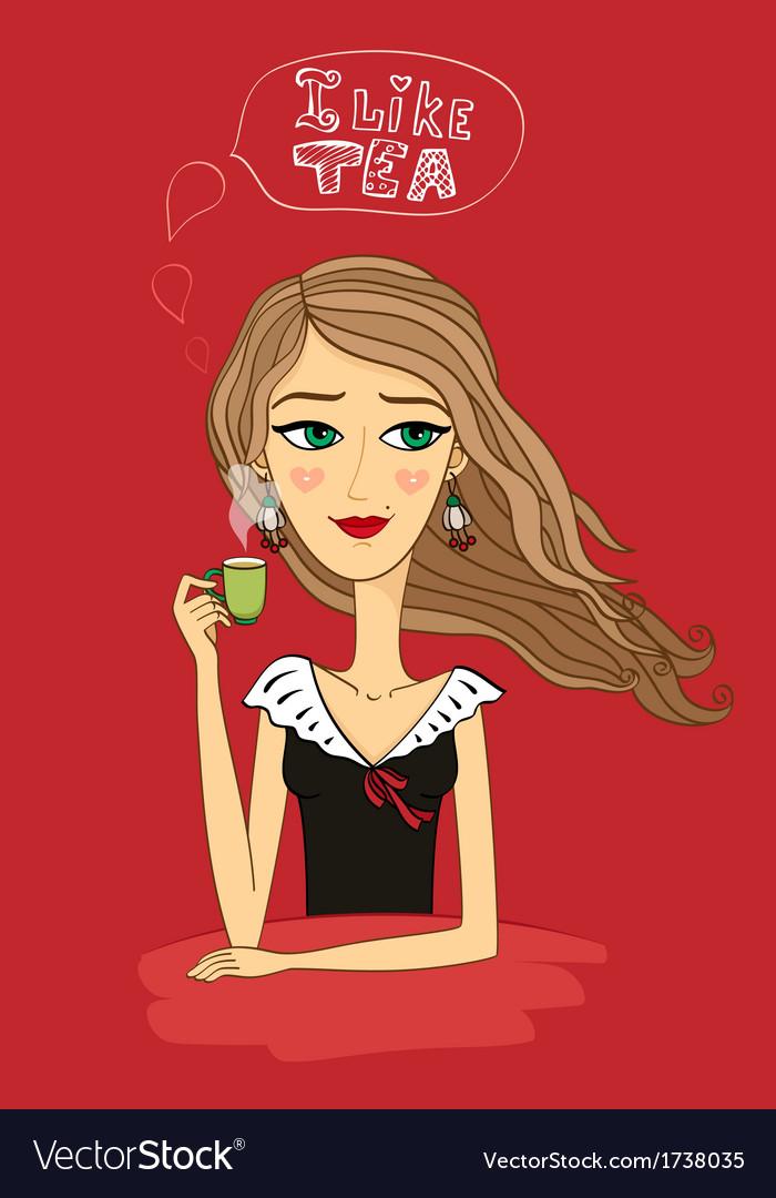 Girl likes tea