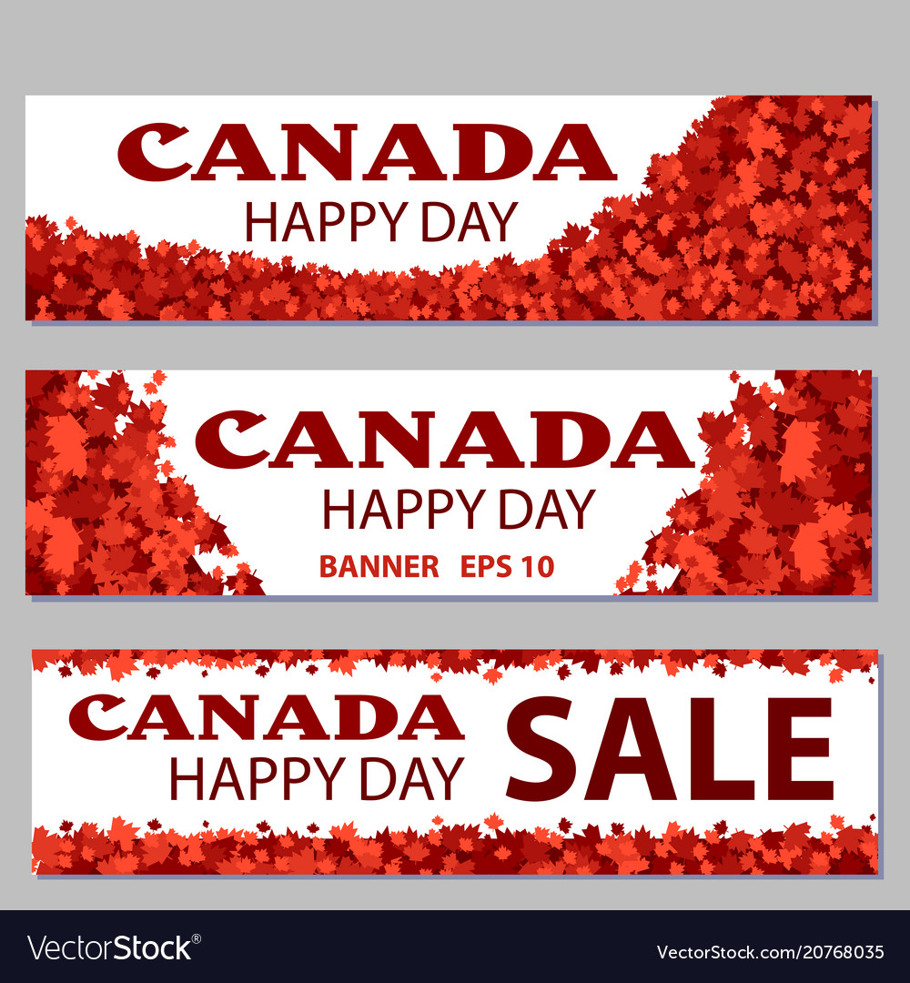 Set of design elements for canada day 1st of july
