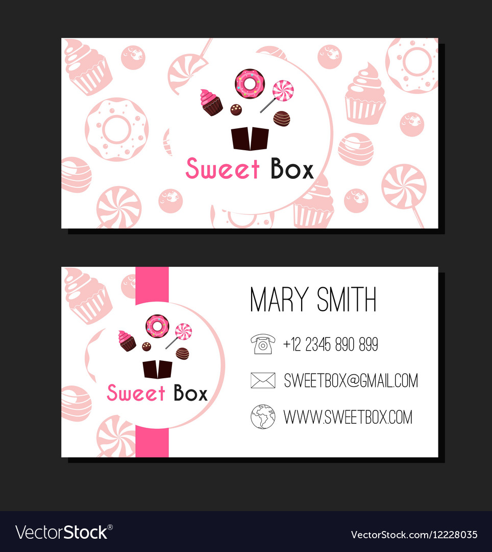 Sweet box donuts business card label royalty free vector sweet box donuts business card label vector image colourmoves
