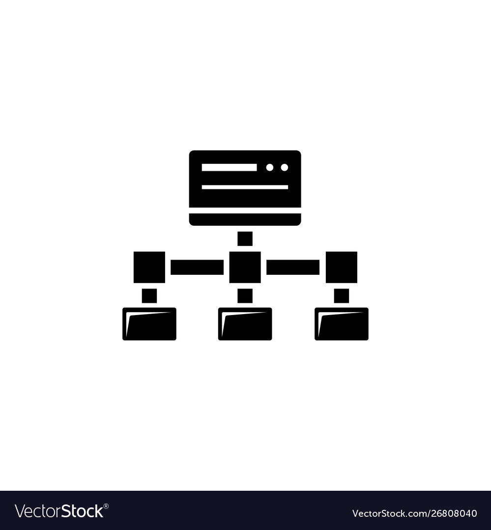 File transfer shared site flat icon