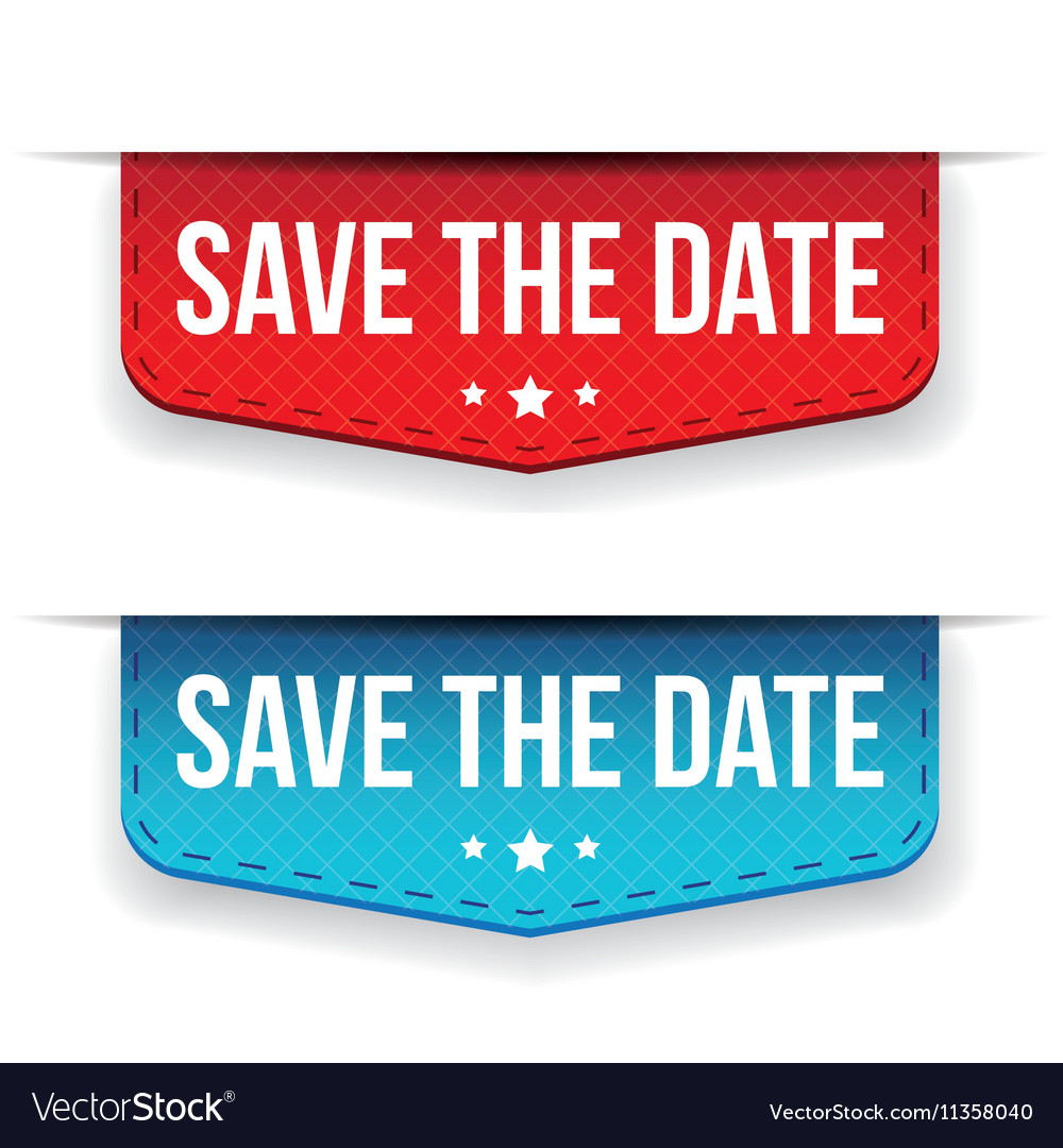 Save date ribbon