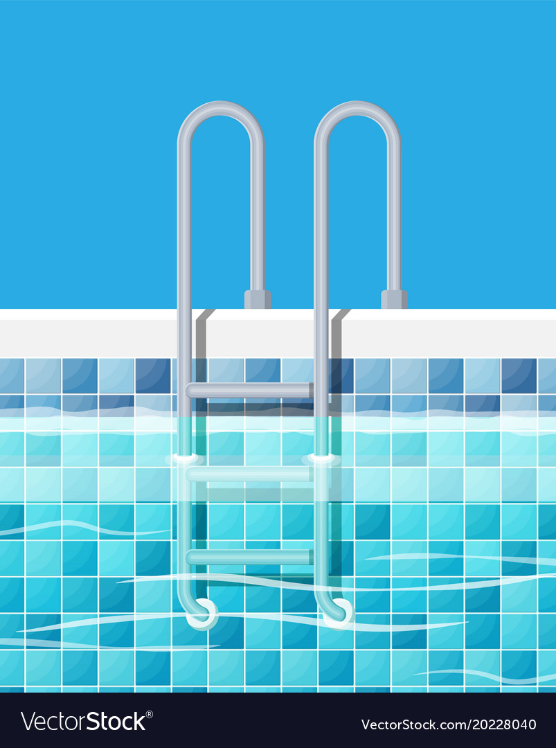 Swimming pool and ladder