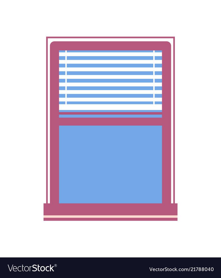 Window half-closed jalousie