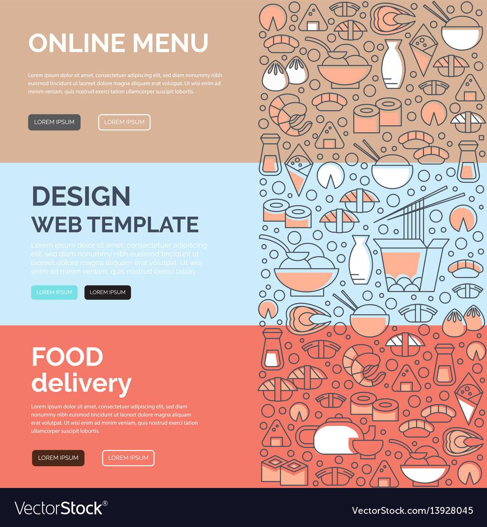 Asian food templates