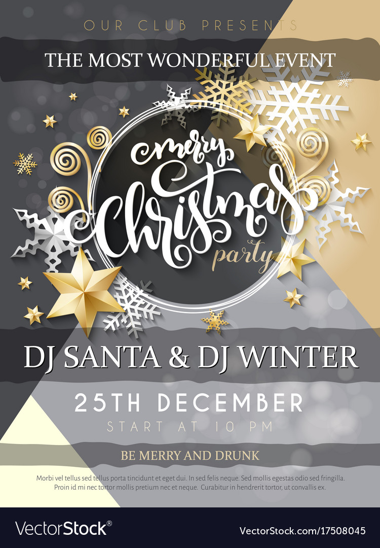 Christmas party poster with