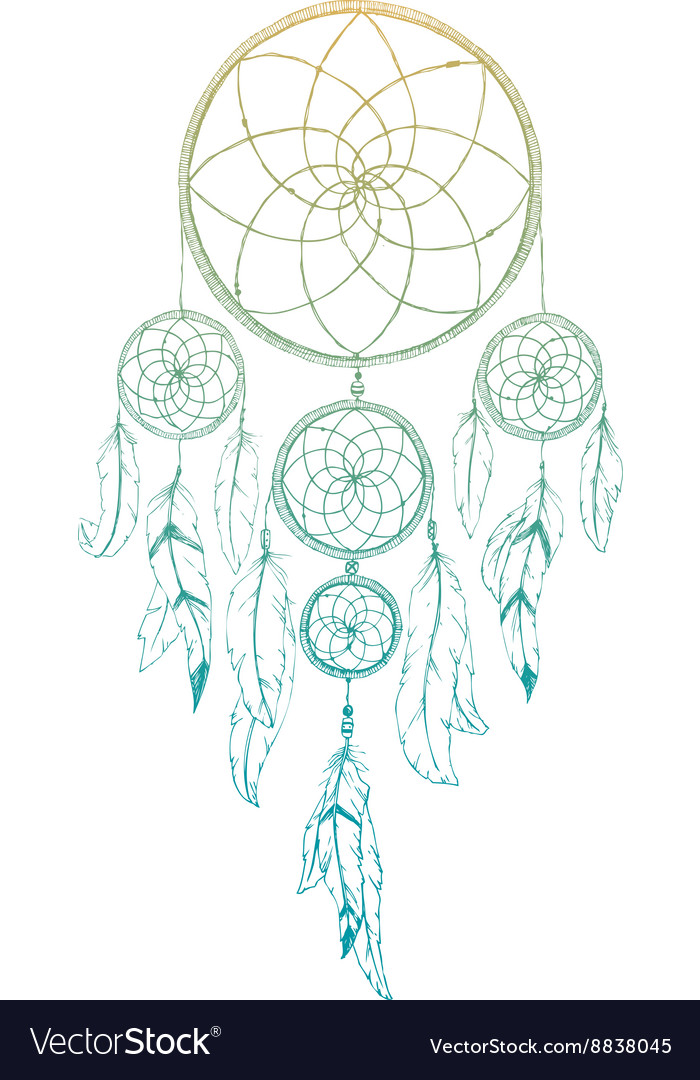 Hand drawn dream catcher Royalty Free Vector Image