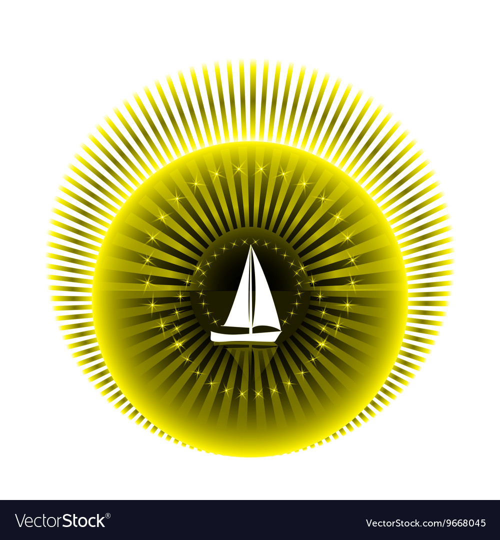 Logo yacht club in yellow and black colors