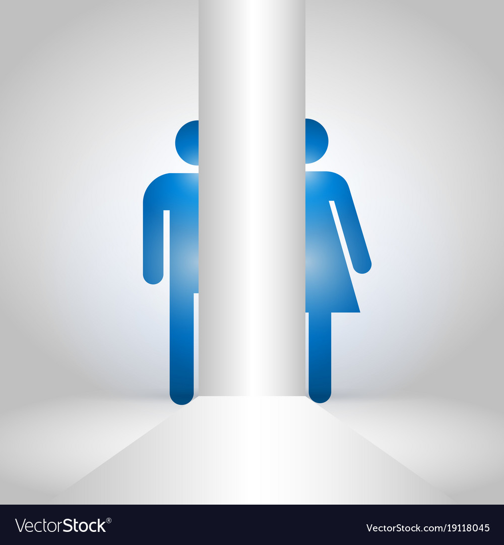 Man And Women Symbol For Toilet Icon Royalty Free Vector