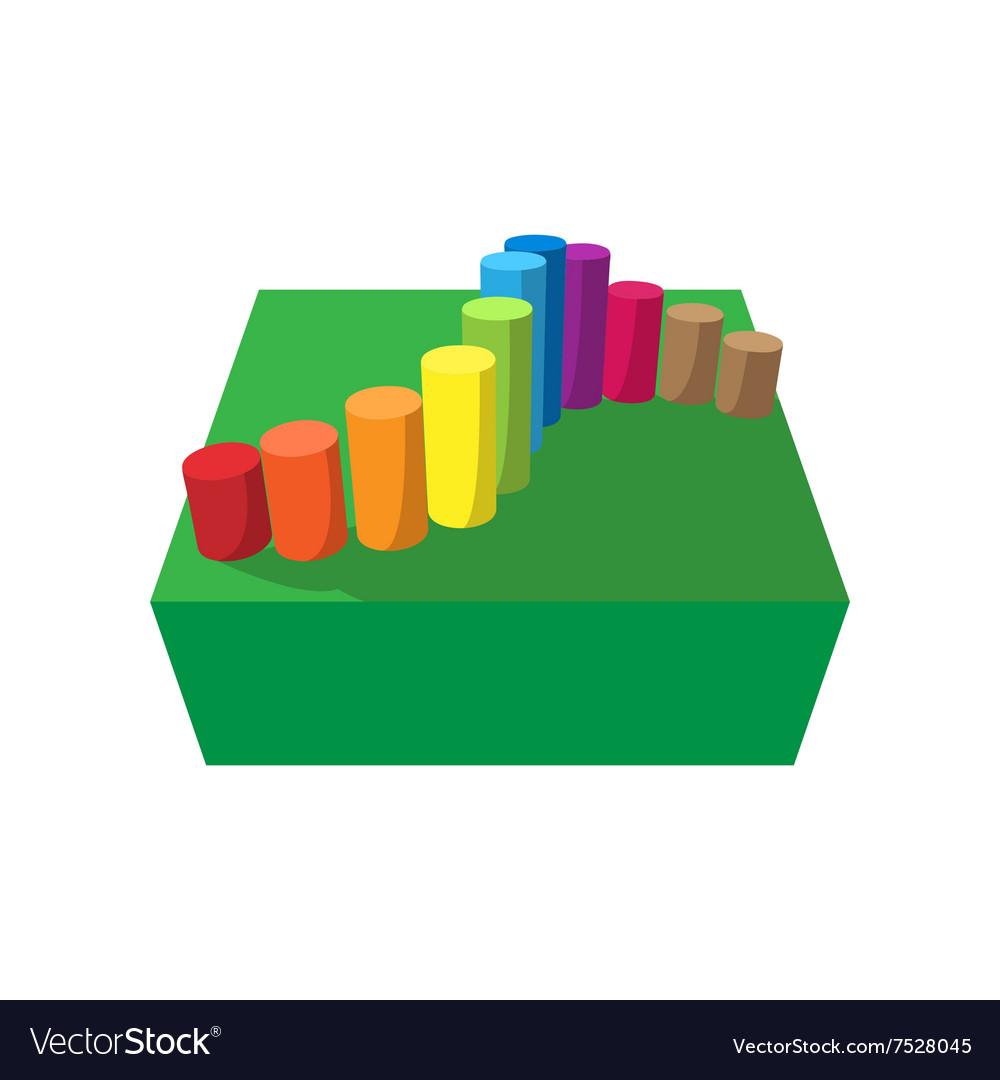 Obstacle course playground cartoon icon vector image