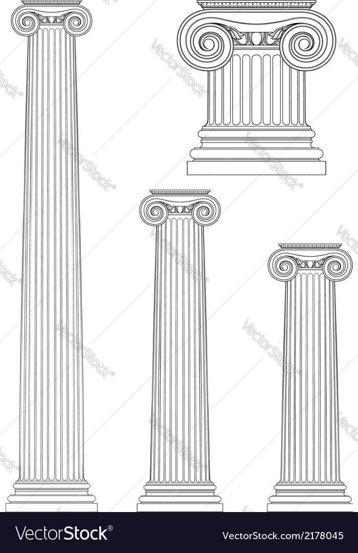 Ionic Column Royalty Free Vector Image
