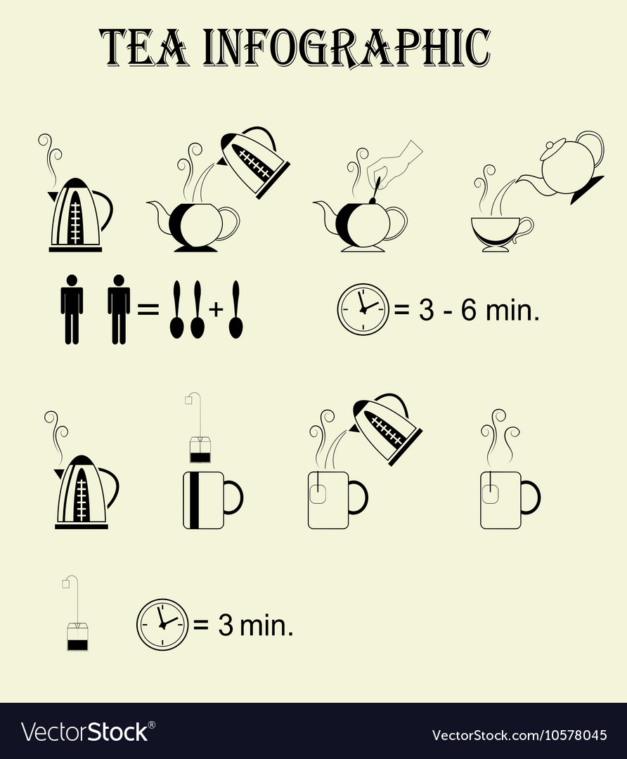 Step By Step Instructions Of Process Of Brewing Vector Image