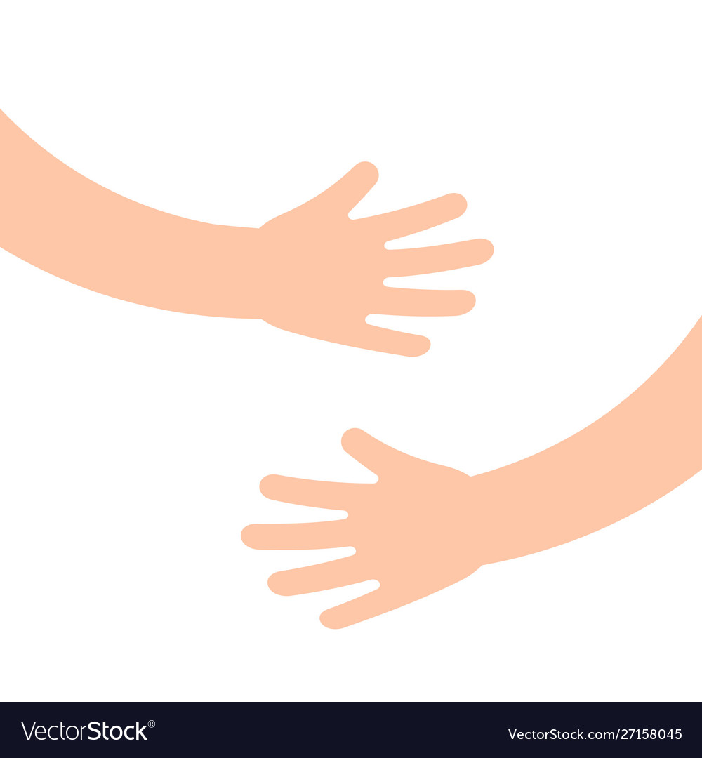 Two human hands holding or embracing something