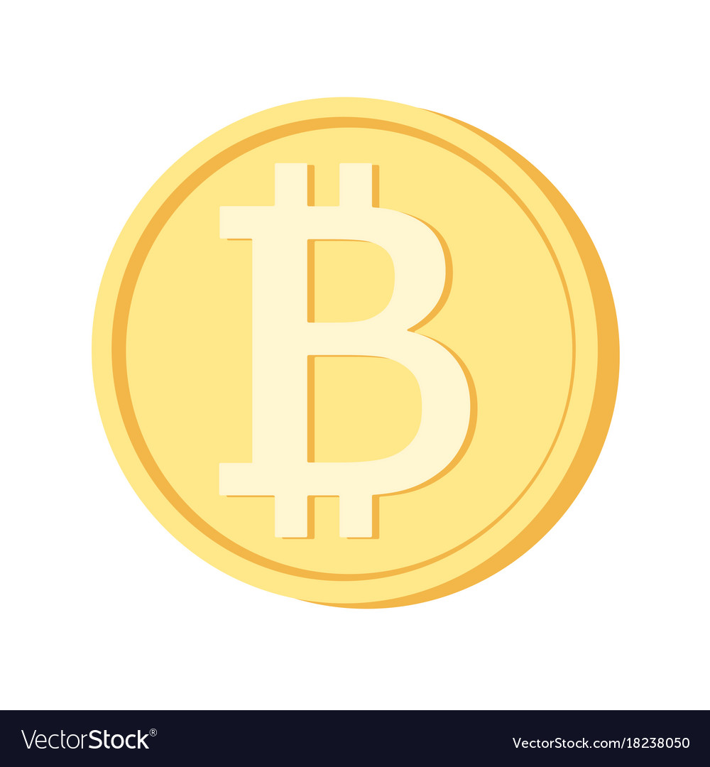 Bitcoin icon yellow coin blockchain cryptocurrency