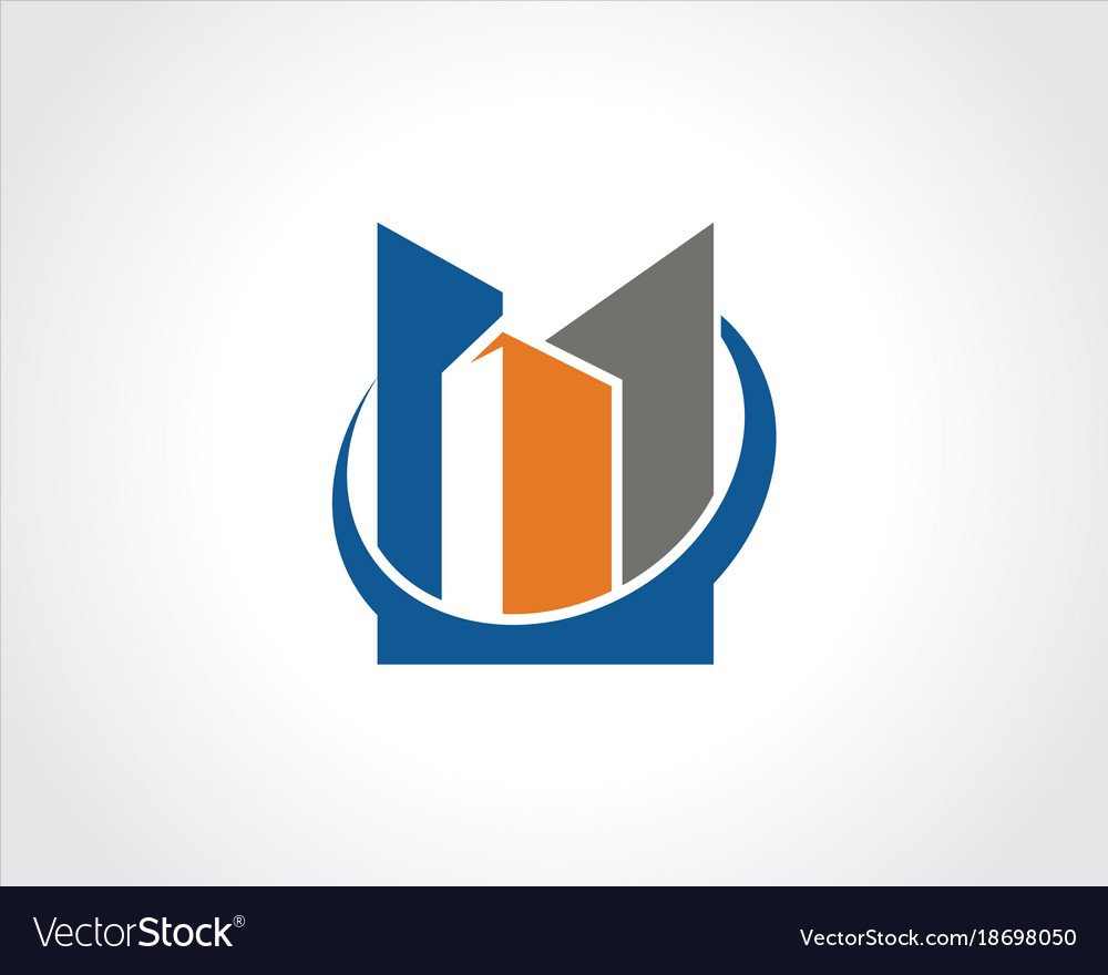 Building city logo vector image