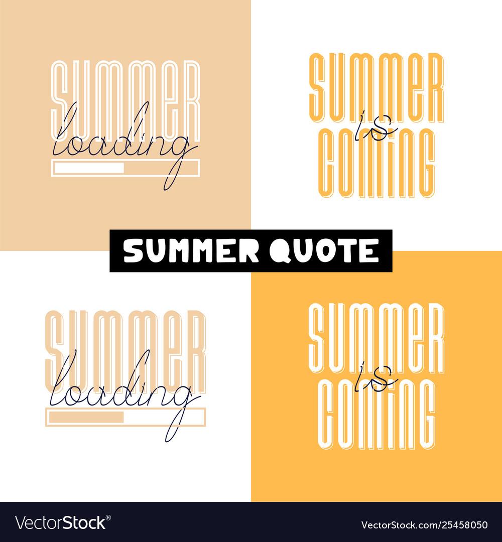 Conceptual hand drawn font phrase summer loading