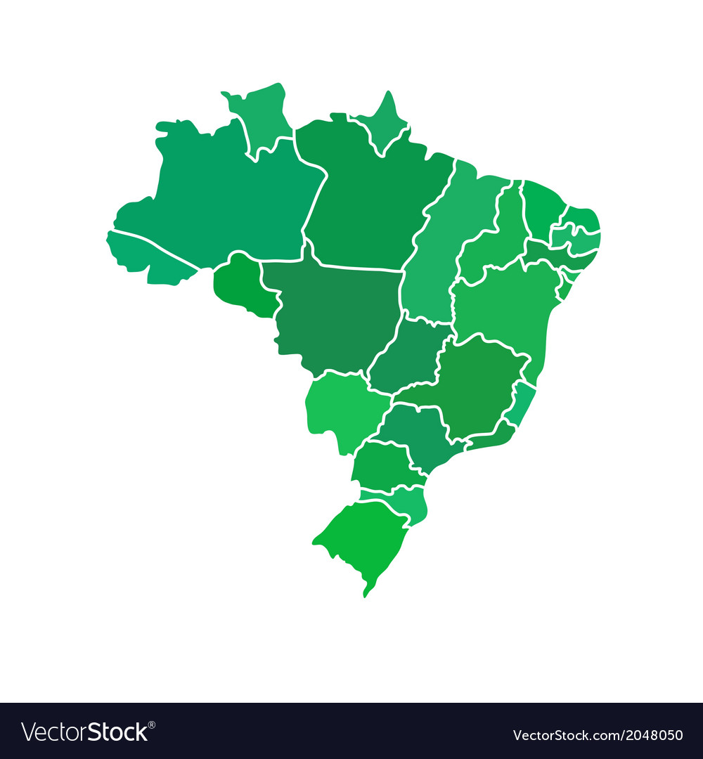 Flat simple brazil map royalty free vector image flat simple brazil map vector image gumiabroncs Image collections