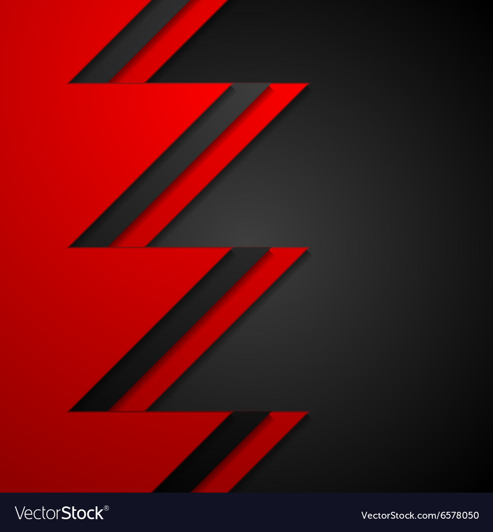 Red and black contrast tech corporate background