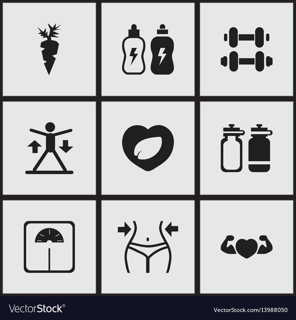 Set of 9 editable training icons includes symbols