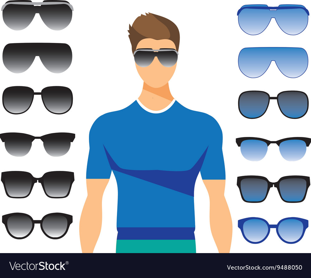 Set of different glasses on white