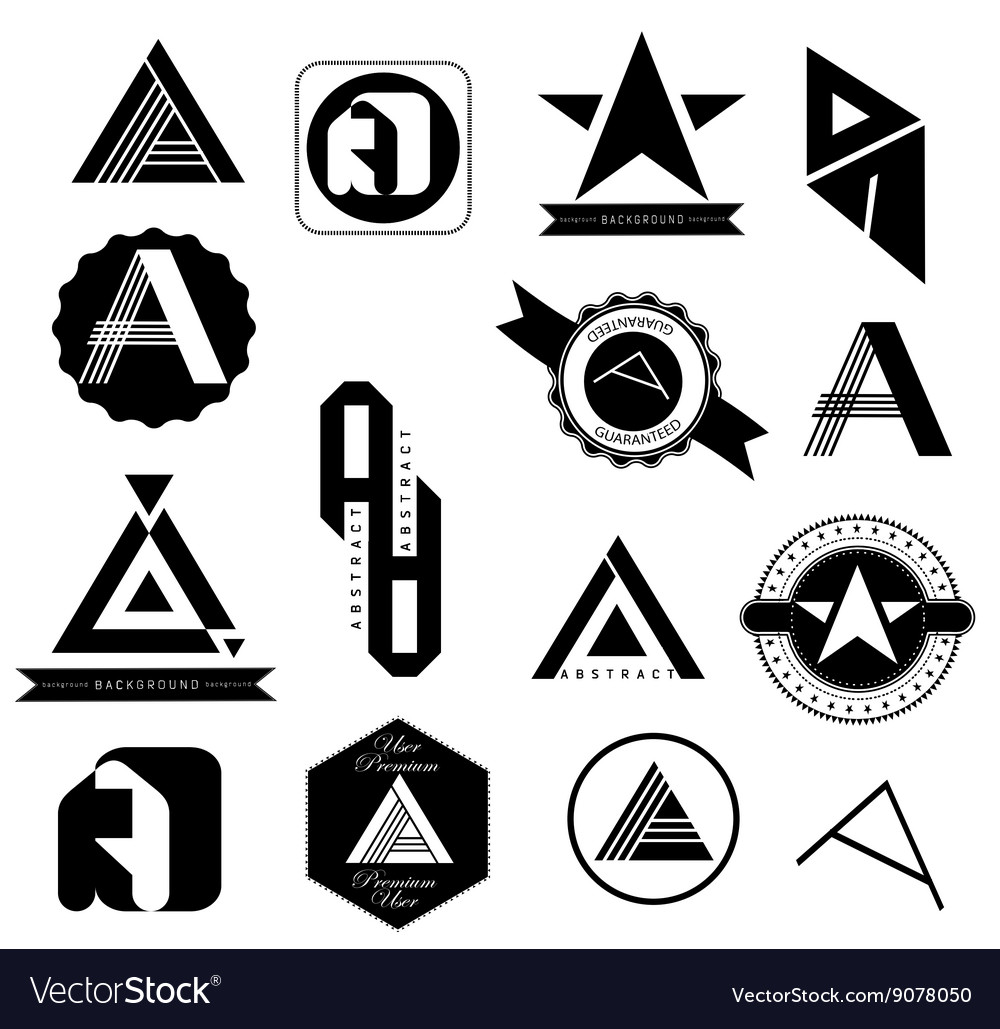 Set of Logo Letters A