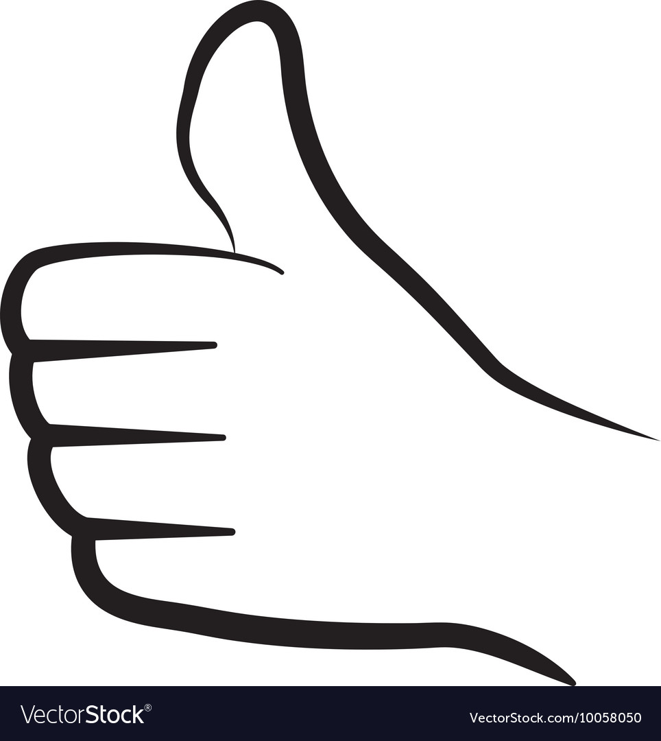 Thumbs up icon Hand design graphic