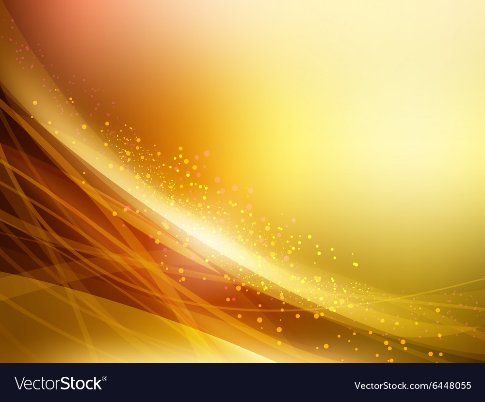 abstract golden waves background royalty free vector image