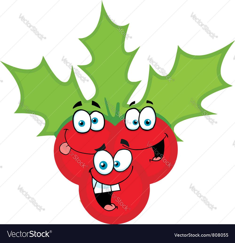 Christmas Holly Cartoon