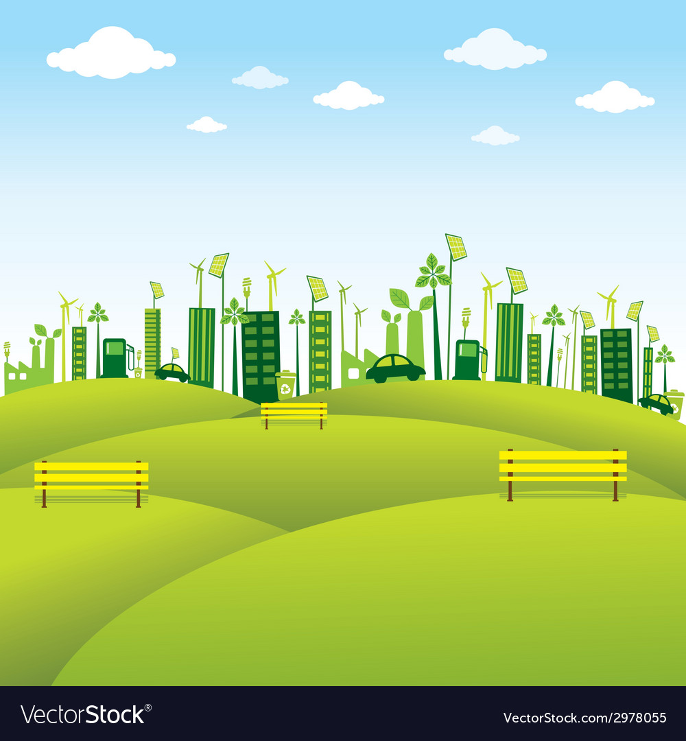 Go green or save earth background concept
