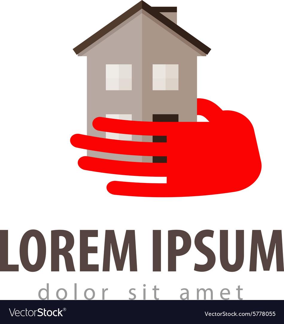 House logo design template construction