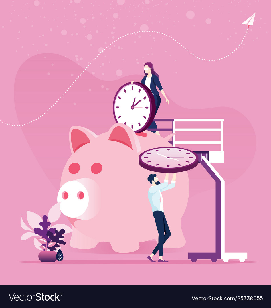 Time management planning save time concept