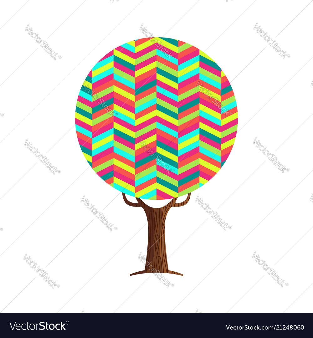 Abstract tree concept of vibrant color texture