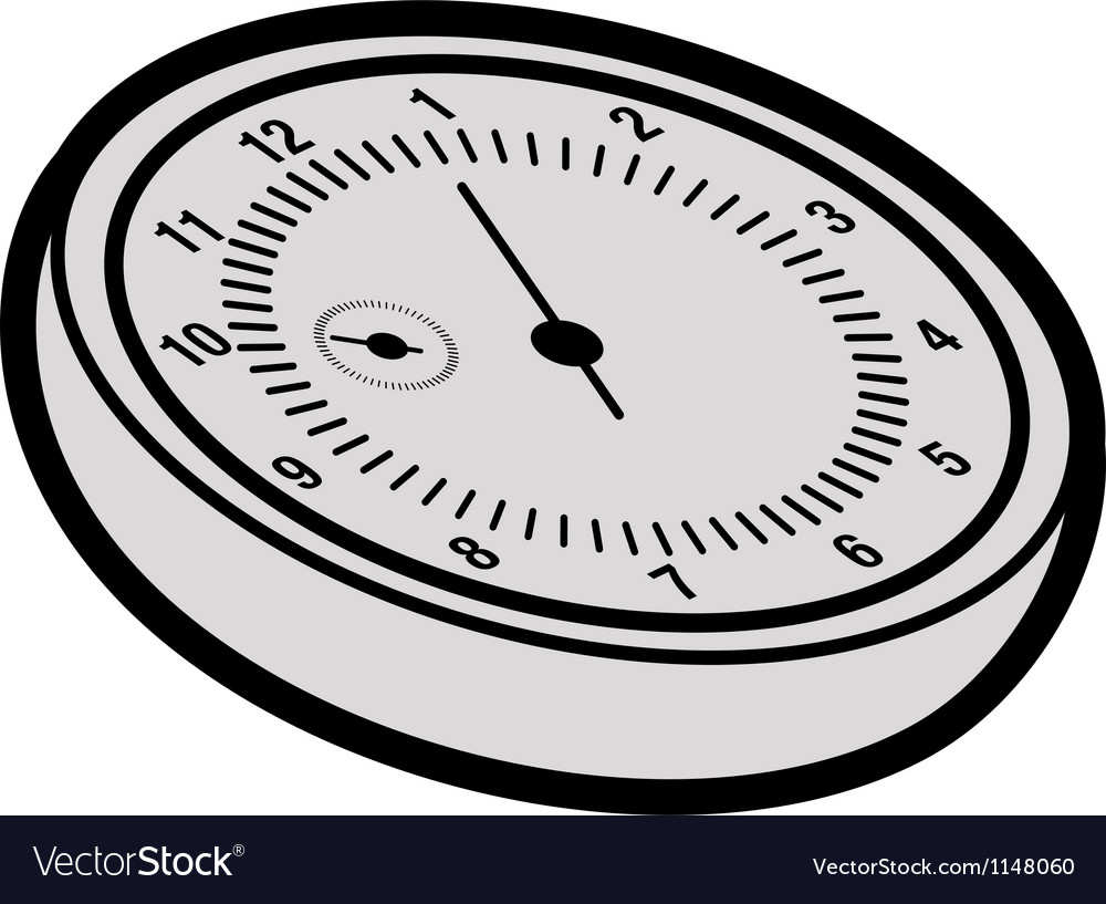 Cartoon stopwatch vector image