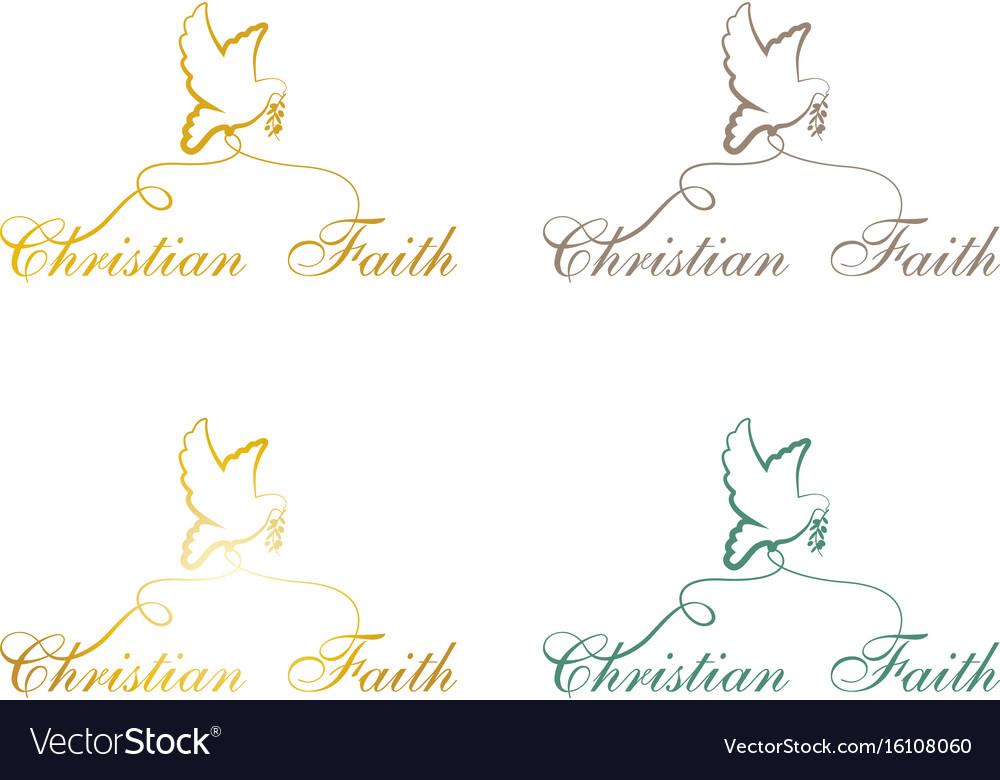 Christian faith pigeon vector image