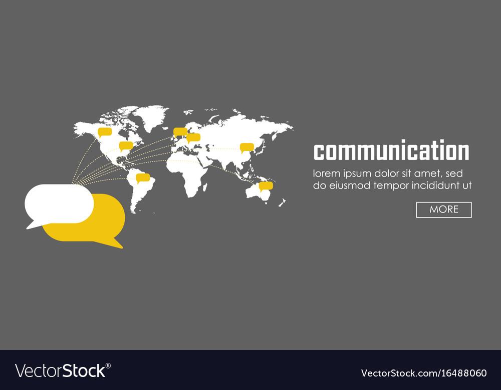 Communication concept banner web infographic