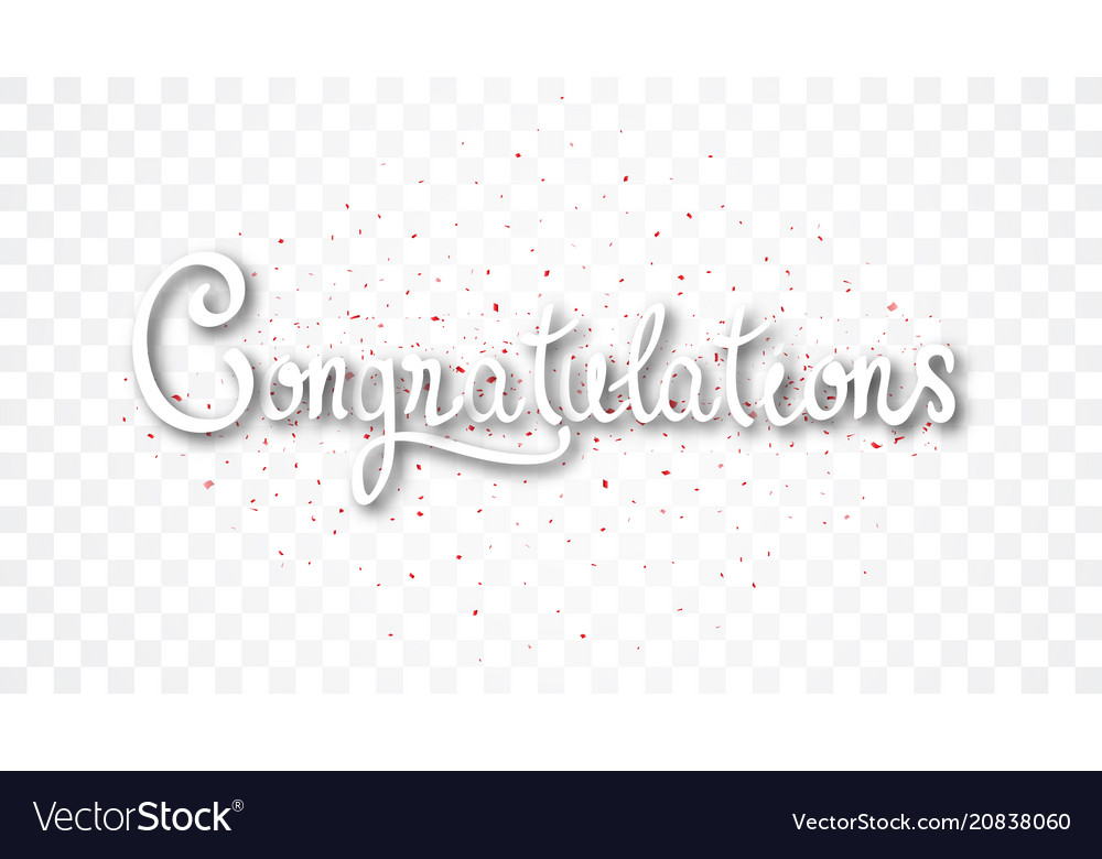Congratulations banner with gold confetti vector image