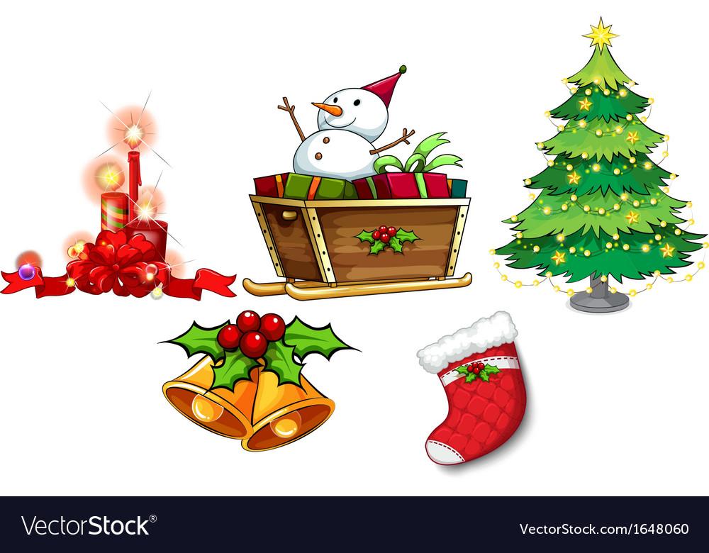 Christmas Vectors.Different Symbols Of Christmas