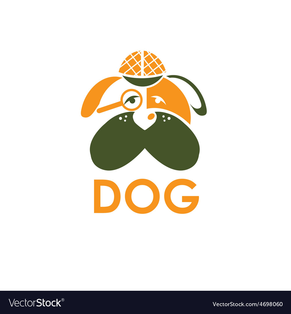 Dog In Sherlock Holmes Hat Design Template Vector Image