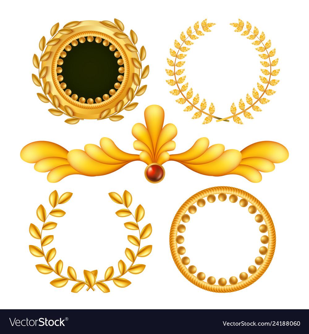 Gold vintage royal elements antique frame