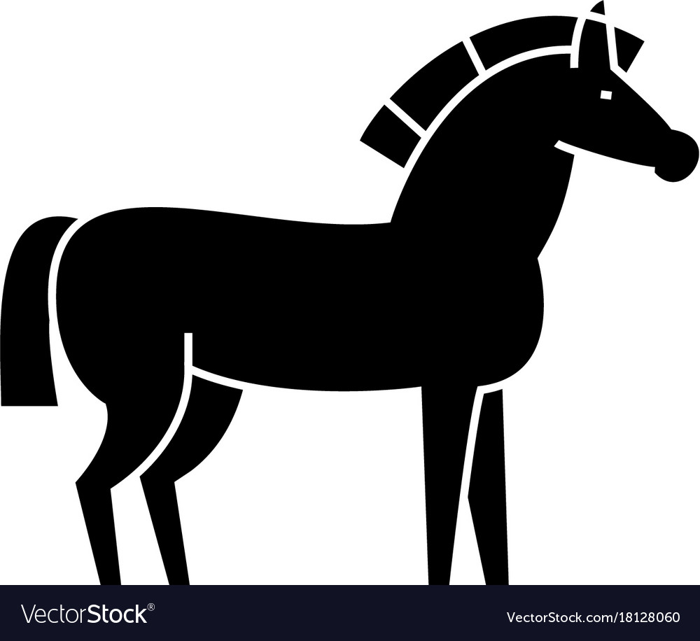 Horse icon sign on isolate