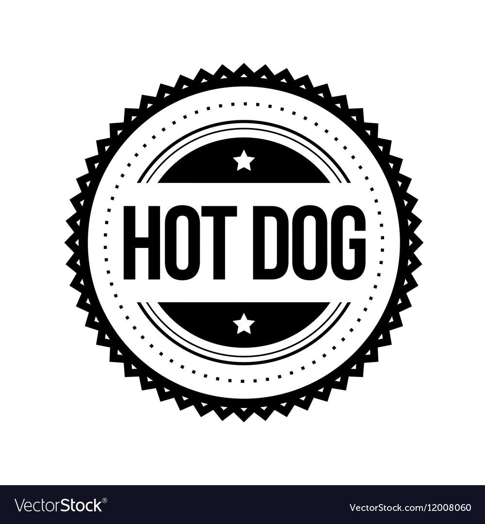 Hot Dog vintage stamp