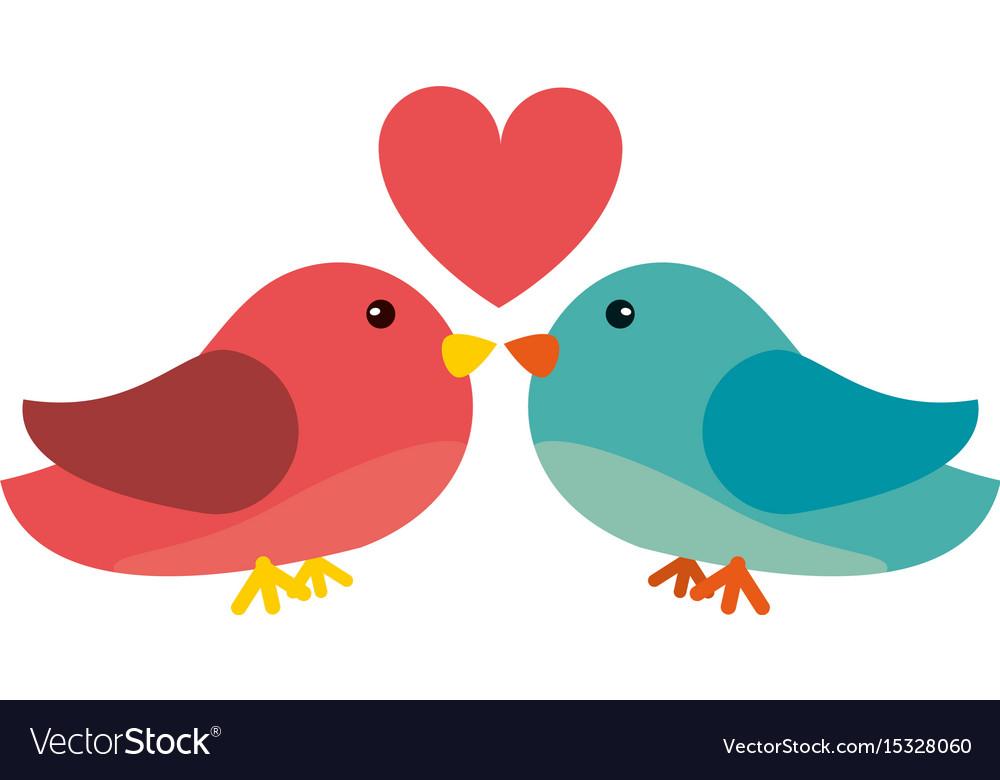 Lovebirds Romantic Valentines Day Icon Image Vector Image