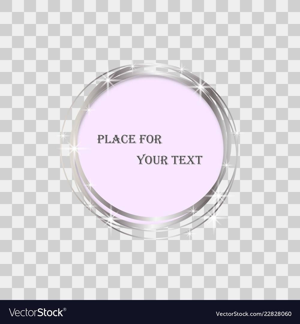 Magic round frame isolated glow light effect Vector Image