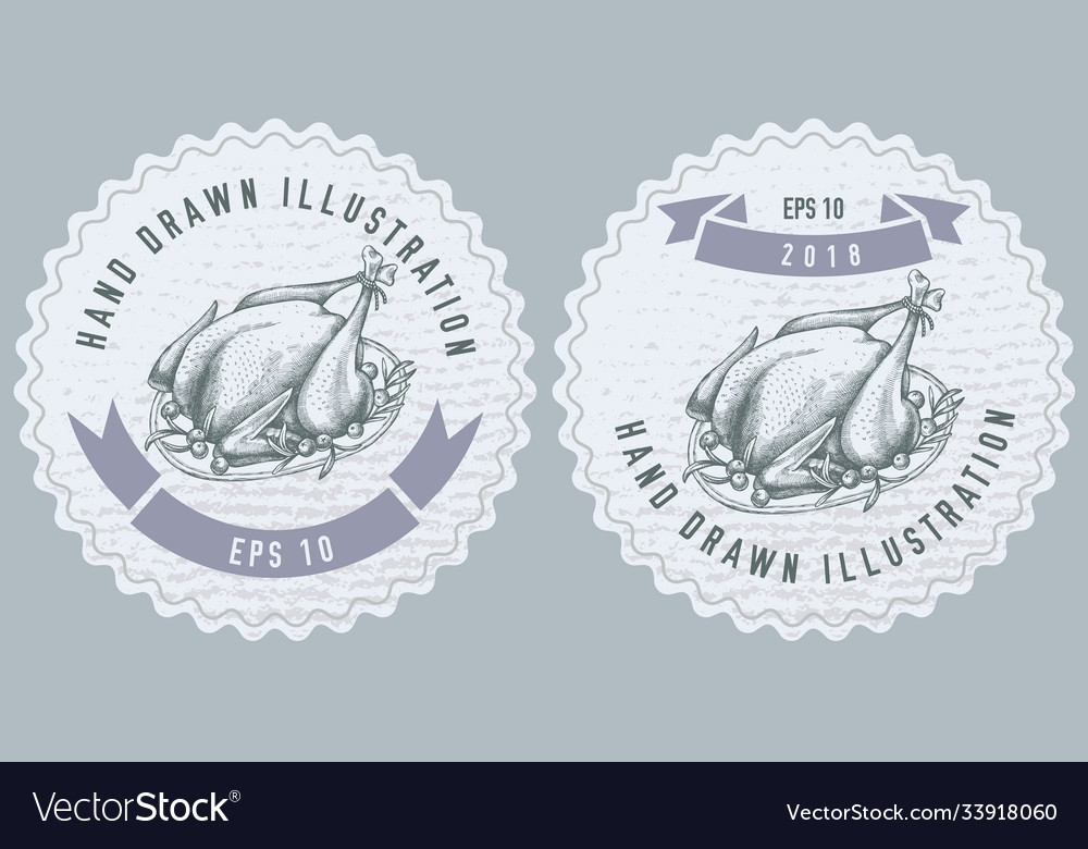 Monochrome labels design with of
