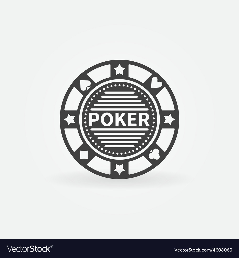 Poker chip icon vector image
